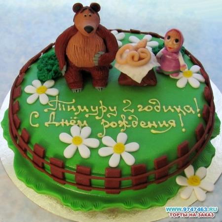 Торт детский - Маша и Медведь 2 - 3кг